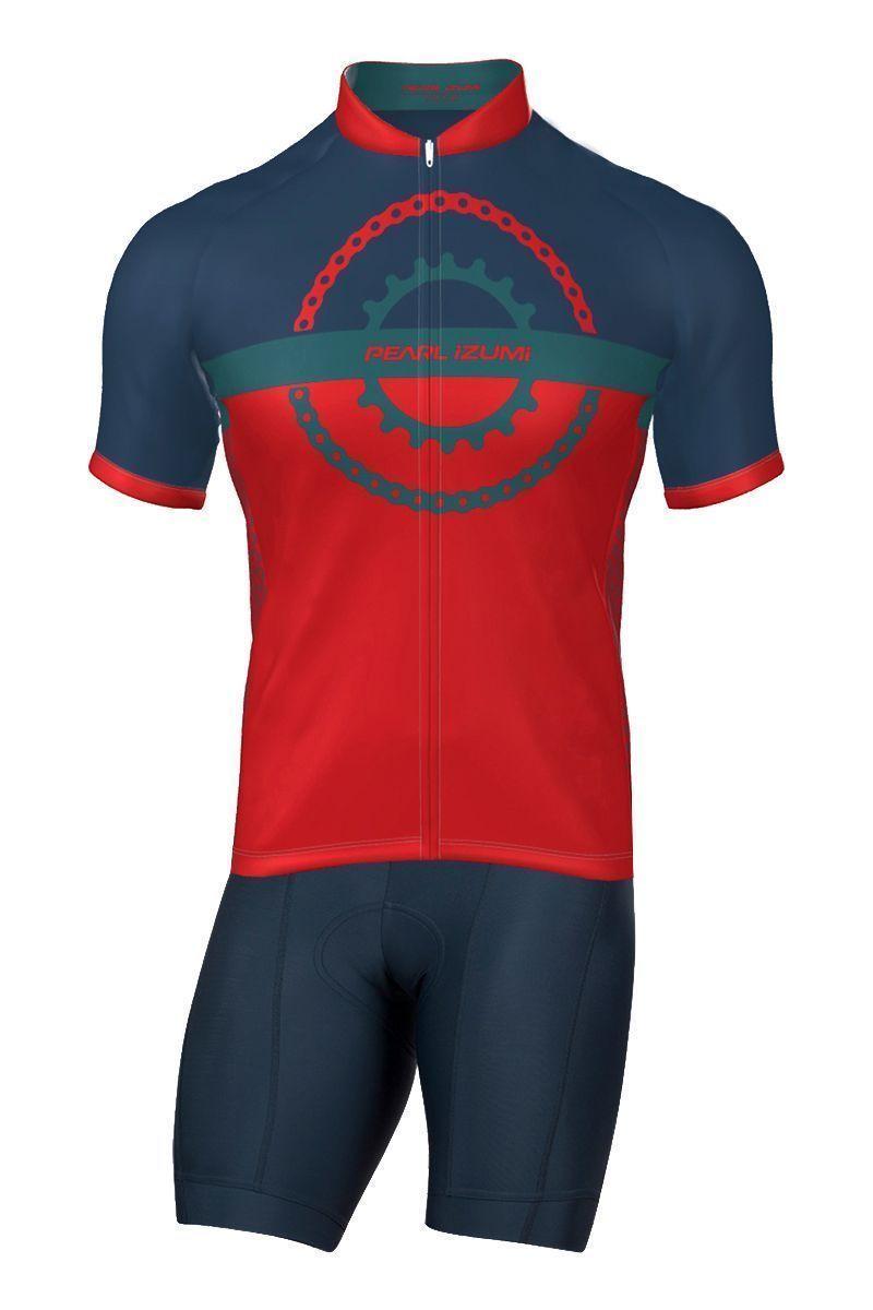 ebde507b8 ... cycling set (short sleeve jersey long zip + bib shorts) red. Previous