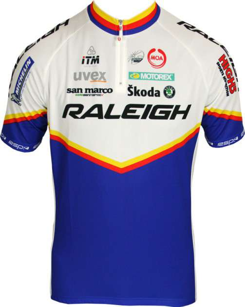 feef0af33 MOA RALEIGH 2011 professional cycling team - cycling jersey with short zip