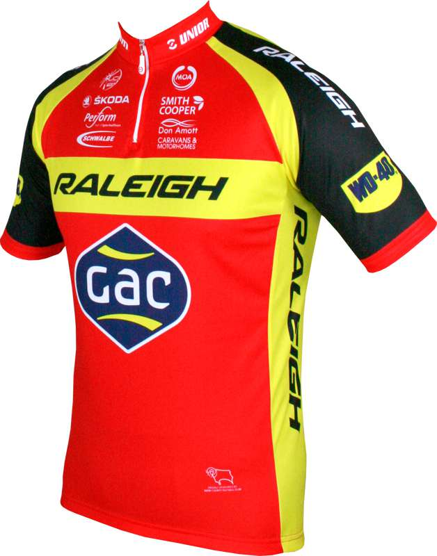 5fa5bf004 MOA RALEIGH-GAC 2015 short sleeve jersey (short zip) - professional cycling  team