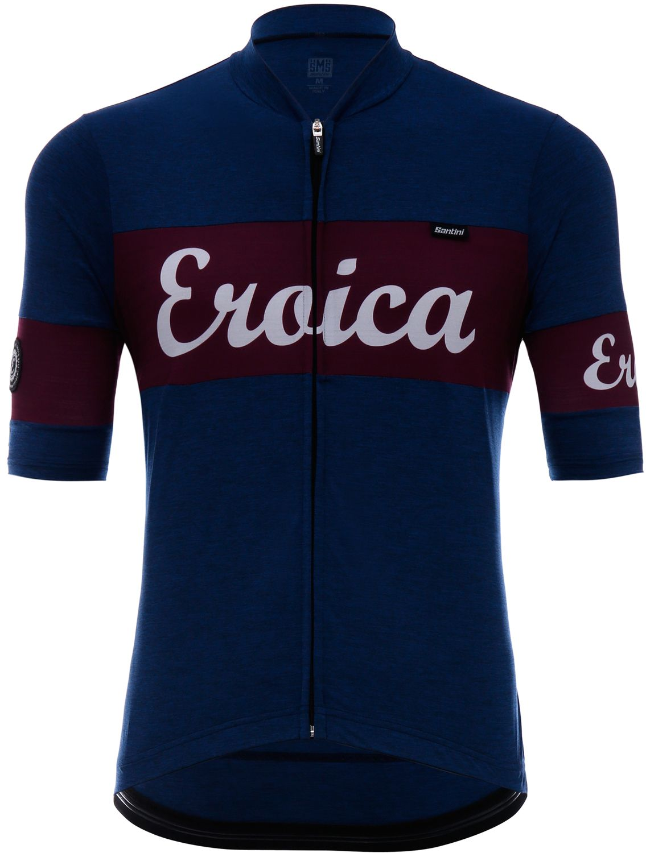 fd699c54e Santini Eroica Cielo short sleeve cycling jersey blue red. Previous