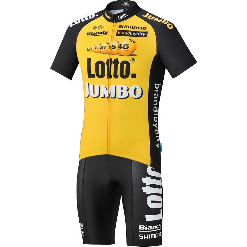 1bc727f29 TEAM LOTTO NL - JUMBO 2017 set (jersey + strap trousers) - cycling-.  Previous