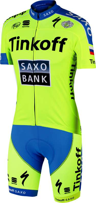 SPORTFUL TINKOFF-SAXO 2015 Set (jersey + strap trousers) - professional  cycling team a3573ad22