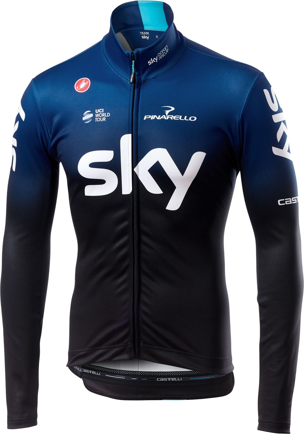 CASTELLI TEAM SKY 2019 long sleeve cycling jersey - professional cycling  team 2564d5dc7