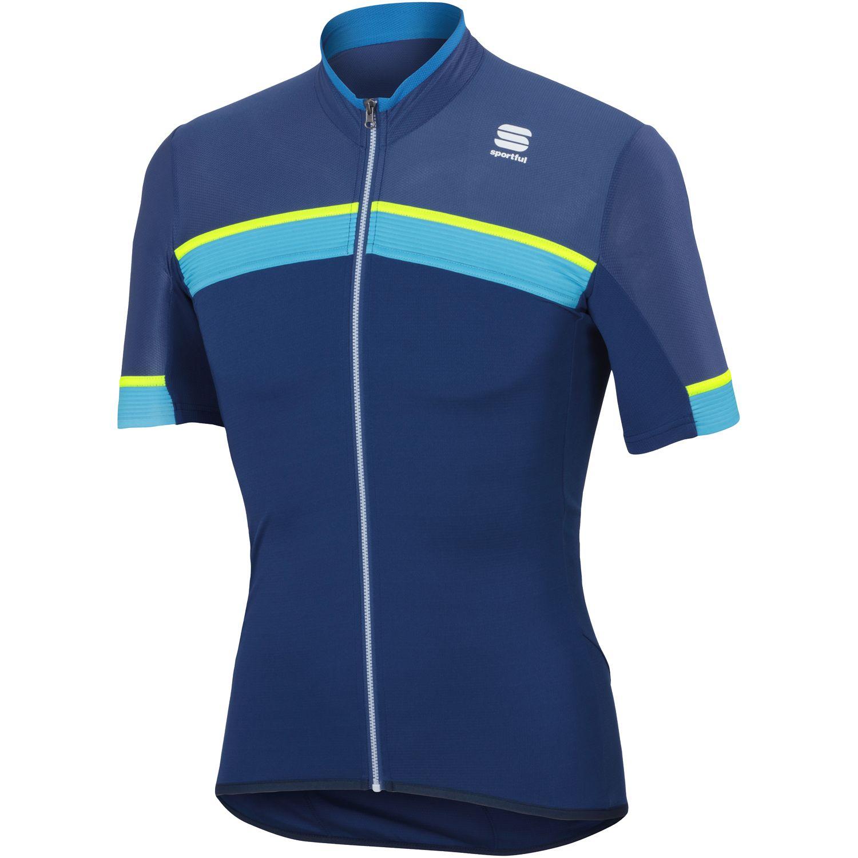 Sportful PISTA short sleeve cycling jersey blue. Previous dd6af79b5