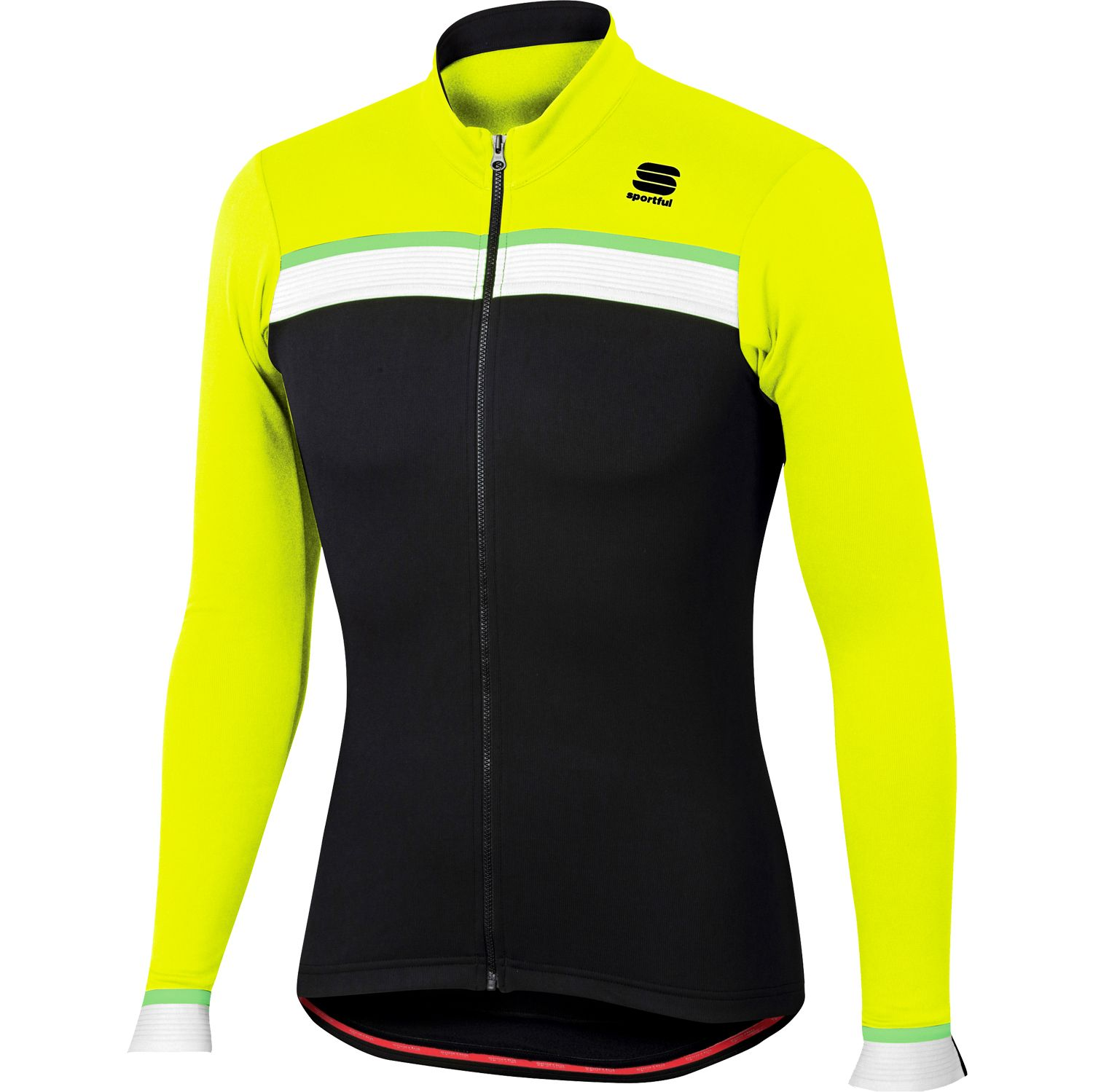 Article no.  1101825-291. SPORTFUL. Sportful PISTA THERMAL JERSEY thermo  long sleeve cycling jersey black fluo yellow 3d6b873e5