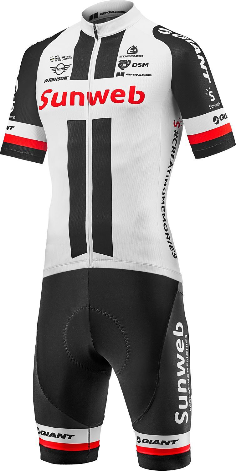 GIANT TEAM SUNWEB REPLICA 2018 set (jersey + strap trousers) - professional cycling  team 1820c92c0