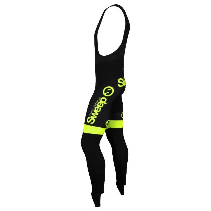 SWEEP ADVANCE cycling bib tights (no pad) black yellow fluo (K014A) 822cfd610