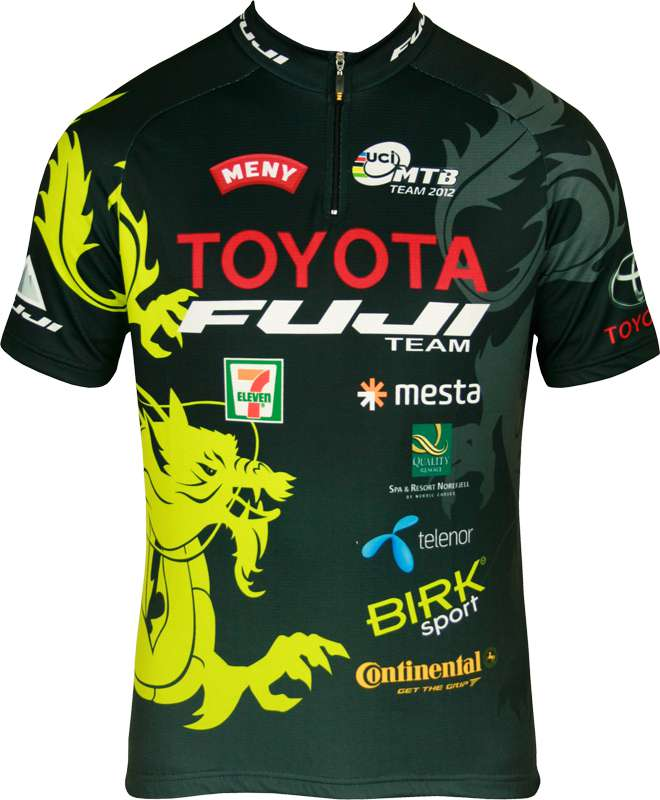 INVERSE Cycling jersey with short zip TOYOTA-FUJI TEAM professional cycling  team 00235a123