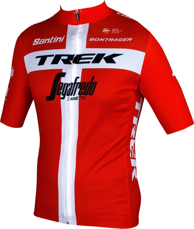 TREK - SEGAFREDO danish champion 2018 short sleeve cycling jersey (long  zip) - Santini. Previous 3734e3348