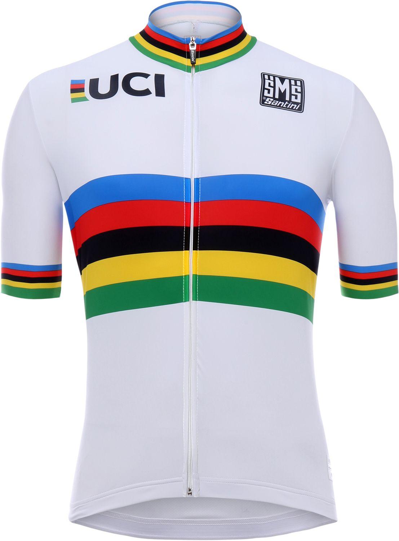 "Santini Short Sleeve Full Zip Road Bike Cycling Jersey Shirt Large 38-40/"""