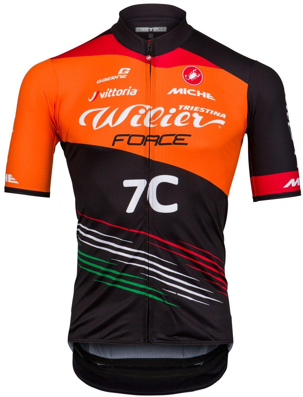 CASTELLI Wilier Force Squadra Corse 2018 short sleeve cycling jersey (long  zip) - mountain bike cycling team 02d95b06d