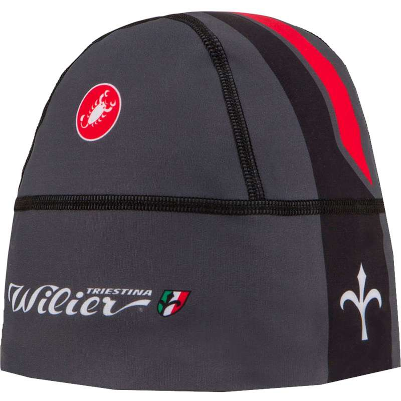 8645bc8507d WILIER SKULLY under helmet grey-red by Castelli. Article no.  WL 237B