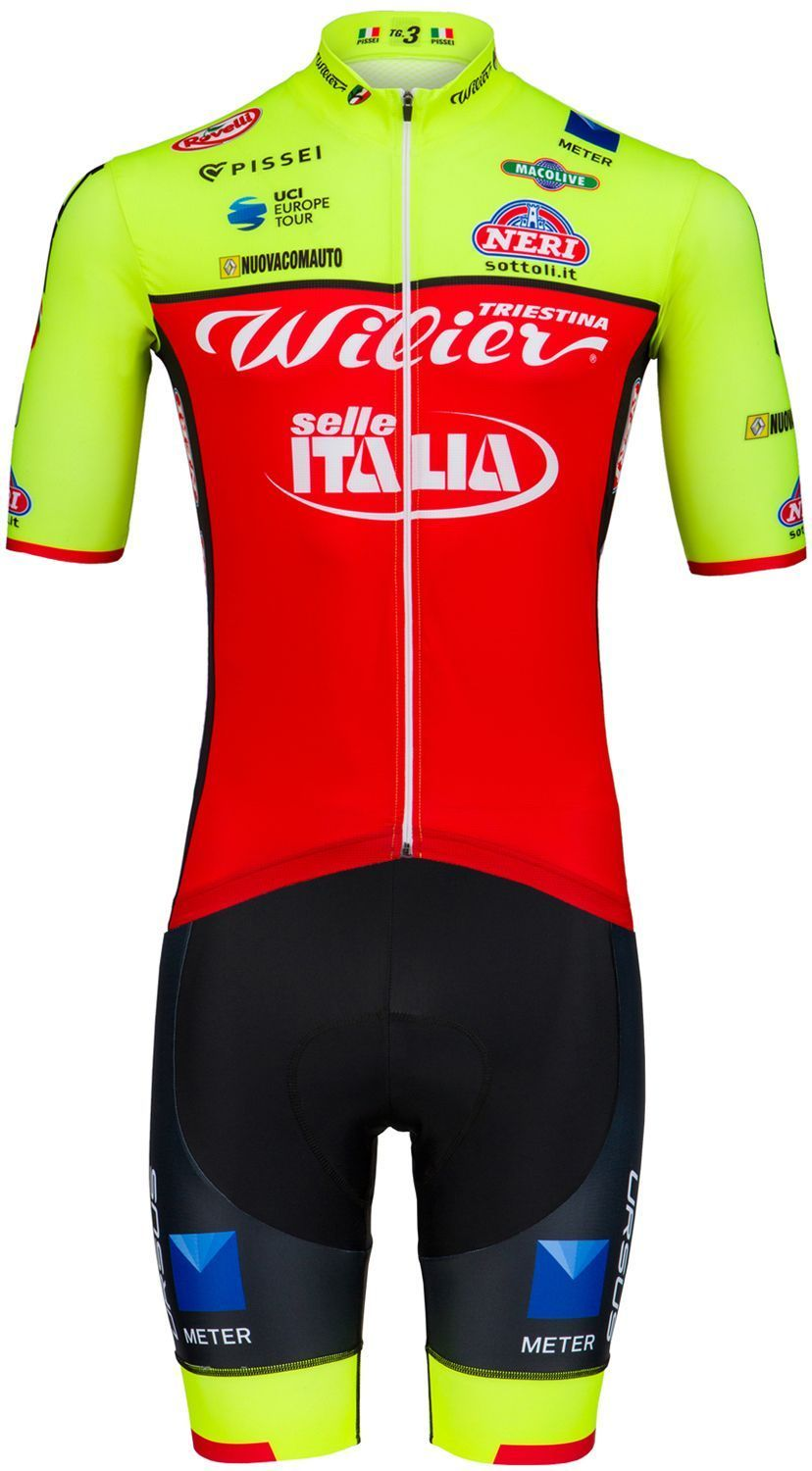 PISSEI Wilier Triestina - Selle Italia 2018 set (jersey long zip + strap  trousers) - professional cycling team 714ee723c