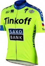 TINKOFF-SAXO 2015 Kurzarmtrikot (langer Rei�verschluss) - Sportful Radsport-Profi-Team