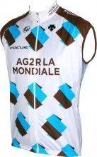 AG2R LA MONDIALE 2015 Wind-Weste - Descente Radsport-Profi-Team