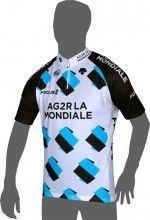 AG2R LA MONDIALE 2014 Kurzarmtrikot (kurzer Reißverschluss) - Radsport-Profi-Team