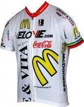 Amore & Vita weiß Kurzarmtrikot (langer Reißverschluss) - Biemme Radsport-Profi-Team