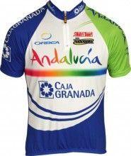ANDALUCIA - CAJA GRANADA Inverse Radsport-Profi-Team - Kurzarmtrikot mit kurzem Reißverschluss