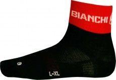 Bianchi Milano Socke ASFALTO schwarz rot 1