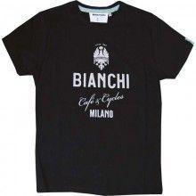 Bianchi CAFÉ & CYCLE Shirt schwarz 1
