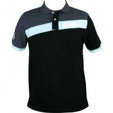 Bianchi CELESTE STRIPE Poloshirt schwarz grau 1