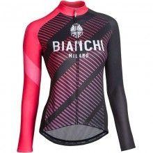 Bianchi Milano CATRIA Radtrikot Damen langarm pink 1
