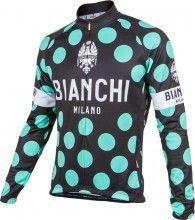 Bianchi Milano Langarmtrikot LEGGENDA 1 schwarz celeste 1