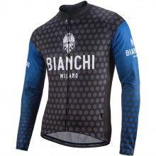 Bianchi Milano PETROSO Radtrikot langarm blau 1