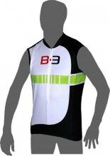Biemme B-3 Trikot ohne Arm weiß/grün