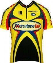 MERCATONE UNO 2002 Kinder-Radsport-Kurzarmtrikot Biemme-Retro-Kollektion