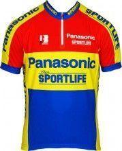 PANASONIC 1996 Radsport-Kurzarmtrikot Biemme-Retro-Kollektion