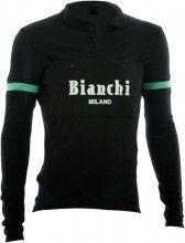 Bianchi Milano Retro Langarmtrikot CAMASTRA schwarz 1