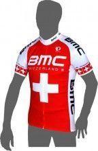 BMC RACING TEAM Schweizer Meister Kurzarmtrikot (langer Reißverschluss) - Pearl Izumi Radsport-Profi-Team