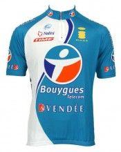 Bouygues Télécom 2006 Trikot (Kurzarmtrikot) - Nalini Radsport-Profi-Team (kurzer Reißverschluss)