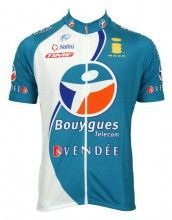 Bouygues Télécom 2006 Trikot (Kurzarmtrikot) - Nalini Radsport-Profi-Team (langer Reißverschluss)
