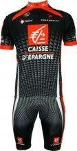 Caisse d'Epargne 2010 Nalini Radsport-Profi-Team - Radsport-Set (Trikot mit kurzem Reißverschluss)