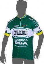CAJA RURAL - SEGUROS RGA 2014 Kurzarmtrikot (kurzer Reißverschluss) - Inverse Radsport-Profi-Team