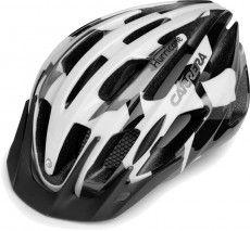Carrera Kinder Radsporthelmn Hurricane schwarz weiß grau 1