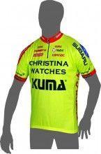 CHRISTINA WATCHES - KUMA 2014 Kurzarmtrikot (kurzer Reißverschluss) - Nalini Radsport-Profi-Team