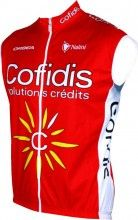 COFIDIS 2015 Wind-Weste - Nalini Radsport-Profi-Team