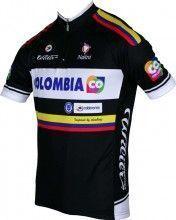 COLOMBIA 2014 Kurzarmtrikot (kurzer Reißverschluss) - Nalini Radsport-Profi-Team