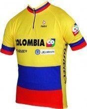 COLOMBIA Kolumbianischer Meister 2014 - Kurzarmtrikot mit kurzem Reißverschluss - Nalini Radsport-Profi-Team