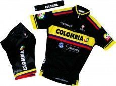 COLOMBIA 2015 Kinder-Set (Trikot, Hose, Stirnband) - Nalini Radsport-Profi-Team