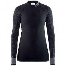 Craft Warm Ontensity Crewneck Damen Langarm Unterhemd schwarz 1