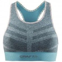 Craft Comfort Mid Impact Bra Sport-BH grau melange 1