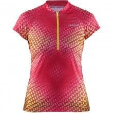 Craft Velo Graphic Jersey radtrikot Damen pink gelb 1
