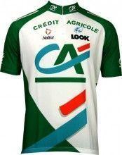 Credit Agricole 2005 Nalini Radsport-Profi-Team - Kurzarmtrikot mit kurzem Reißverschluss