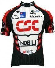 CSC 2006 Descente Radsport-Profi-Team - Kurzarmtrikot mit kurzem Reißverschluss