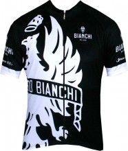 Maillot de manga corta CINCA (negro y blanco) de Bianchi Milano (E16-4000)