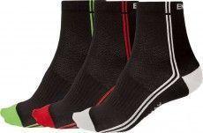 Dreierpack Endura Coolmax Socken Stripe II